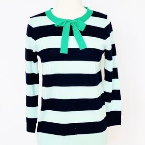 J. Crew Green and Navy Sweater